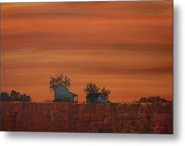 At The Edge Of The Day Metal Print by William Renzulli