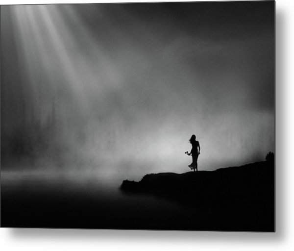 At The End Of Waiting. Metal Print