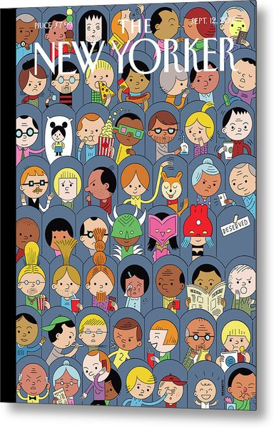 At The Movies Metal Print by Ivan Brunetti
