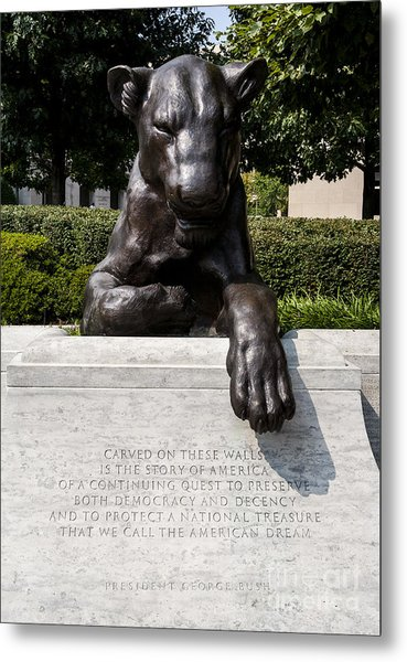 At The National Law Enforcement Officers Memorial In Washington Dc Metal Print