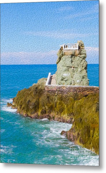 At The Pier In Mazatlan Mexico Metal Print