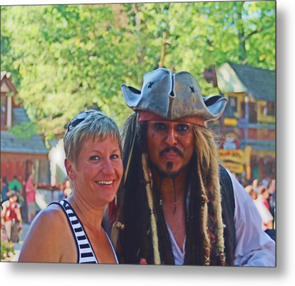 At The Renaissance Fair Metal Print by Victoria Sheldon