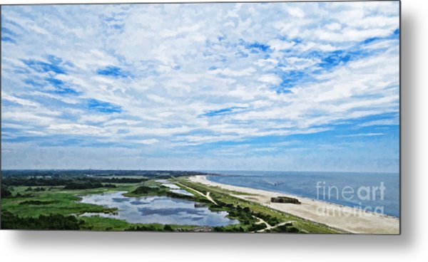At The Top Of The Lighthouse Metal Print