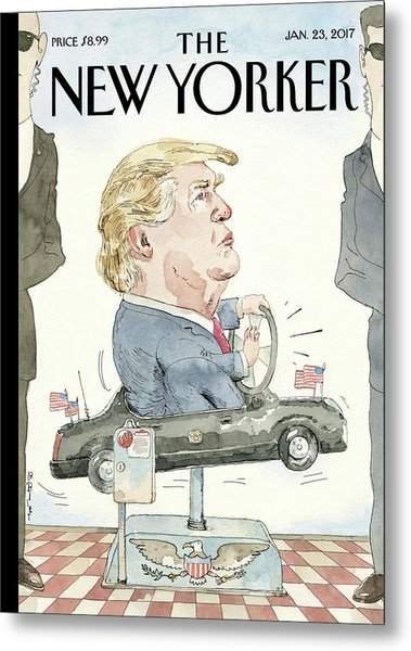 At The Wheel Metal Print by Barry Blitt