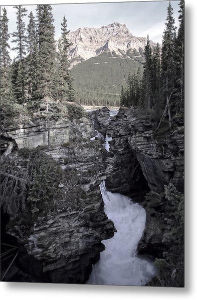 Athabasca Falls - Jasper Park - Alberta Canada Metal Print