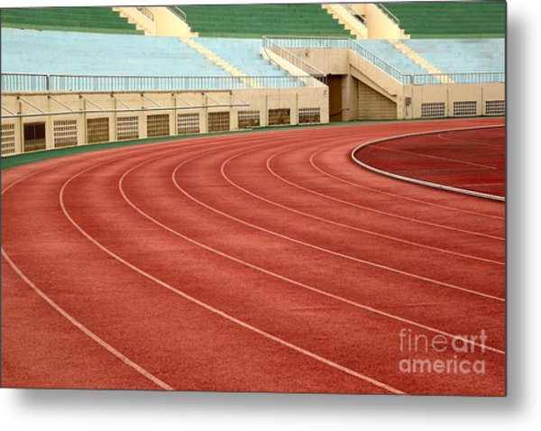 Athletic Track And Field Markings Metal Print