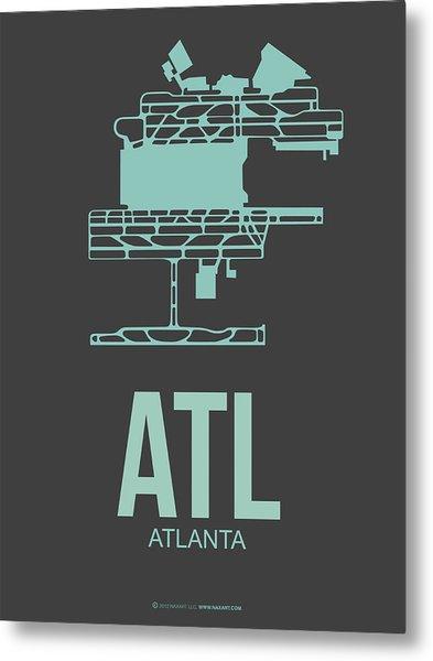 Atl Atlanta Airport Poster 2 Metal Print