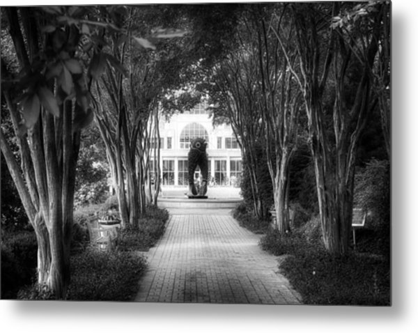 Atlanta Botanical Garden-black And White Metal Print