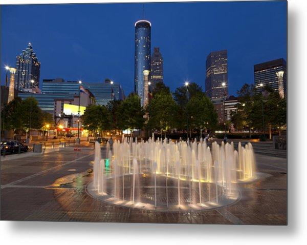 Atlanta By Night Metal Print