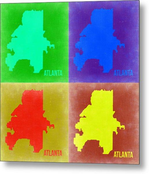 Atlanta Pop Art Map 2 Metal Print
