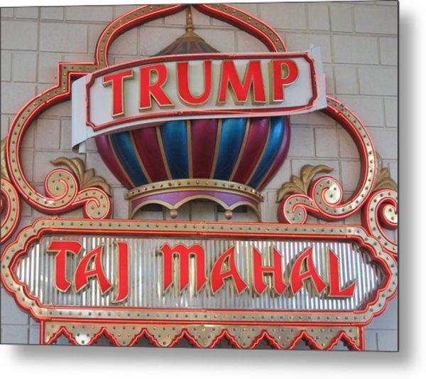 Atlantic City - Trump Taj Mahal Casino - 12121 Metal Print by DC Photographer