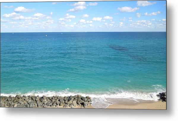 Atlantic Ocean In South Florida Metal Print
