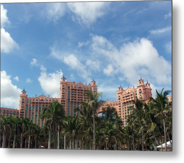 Atlantis Resort At Paradise Island Metal Print by Teresa Schomig