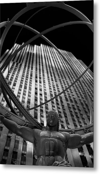Atlas Rockefeller Center Metal Print