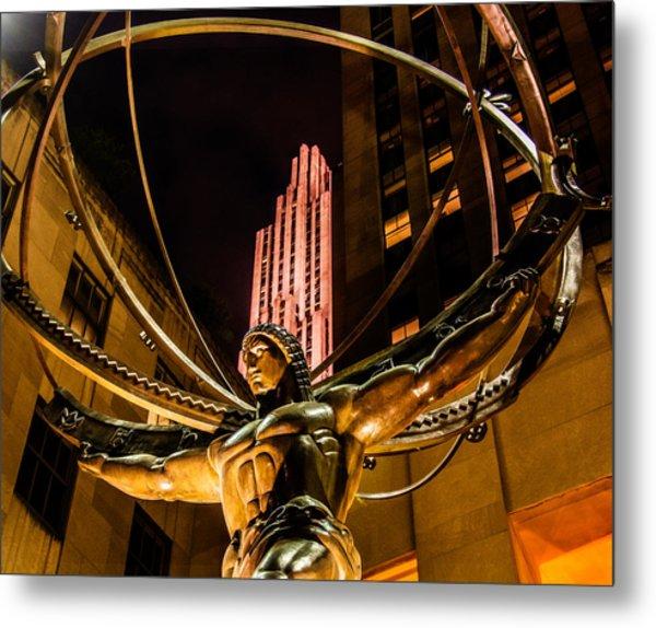 Atlas - Rockefeller Center Metal Print