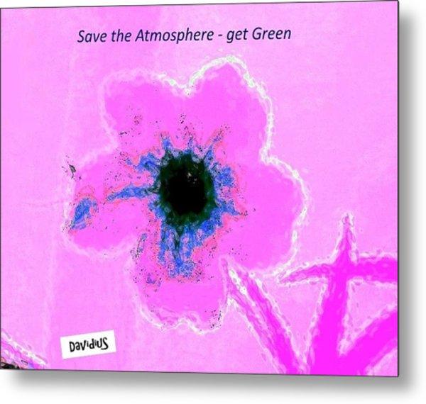 Metal Print featuring the digital art Atmospheric Pink by David Clark