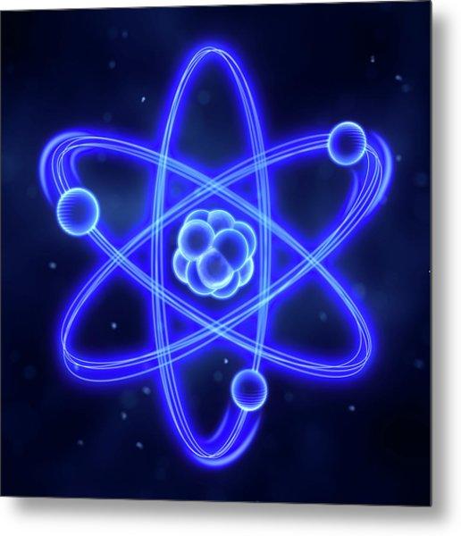 Atom Metal Print by Enot-poloskun