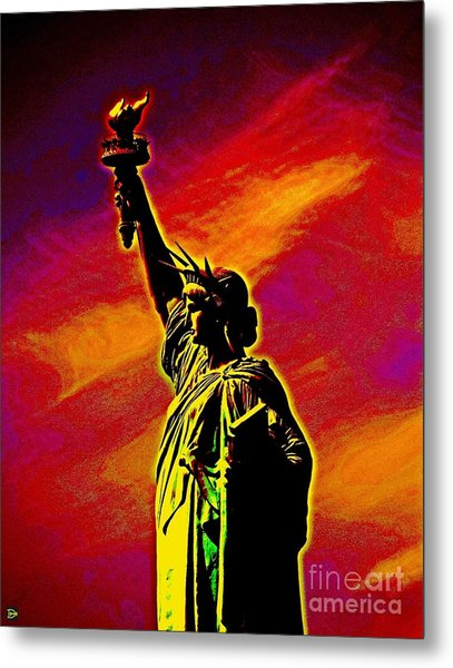 Atomic Liberty Metal Print