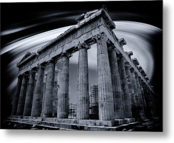 Atop The Acropolis Metal Print