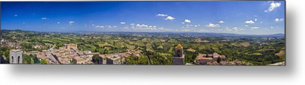 Atop The Bell Tower In San Gimignano Metal Print