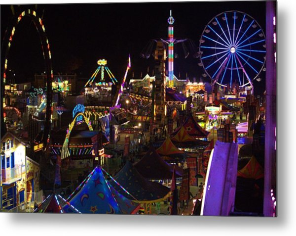 Atop The Carnival Metal Print