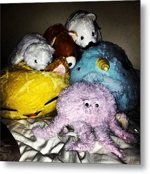 Attack Of The Stuffed Animals #animals Metal Print