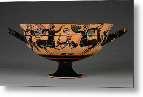 Attic Black-figure Siana Cup Painter Of Boston C.a. Athens Metal Print by Litz Collection & Attic Black-figure Siana Cup Painter Of Boston C.a. Athens Painting ...