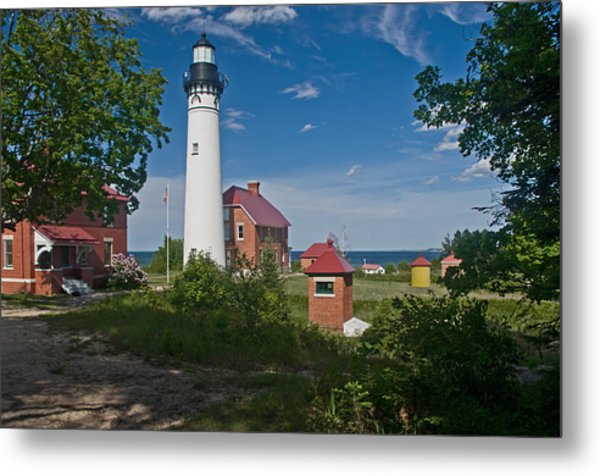 Au Sable Point Lighthouse  Metal Print
