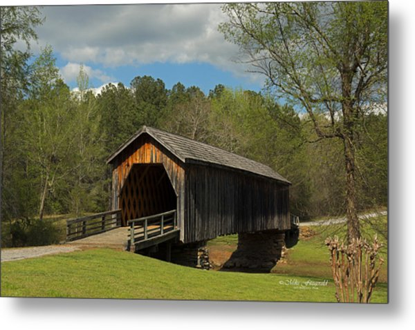 Auchumpkee Creek Covered Bridge Metal Print