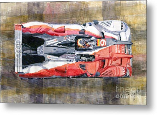 Audi R15 Tdi Le Mans 24 Hours 2010 Winner  Metal Print