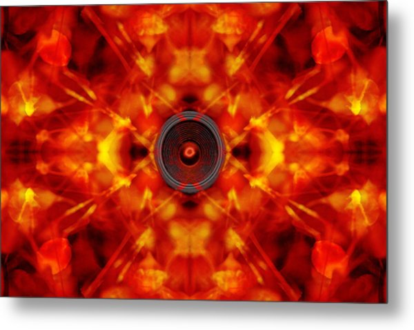 Audio Kaleidoscope Metal Print