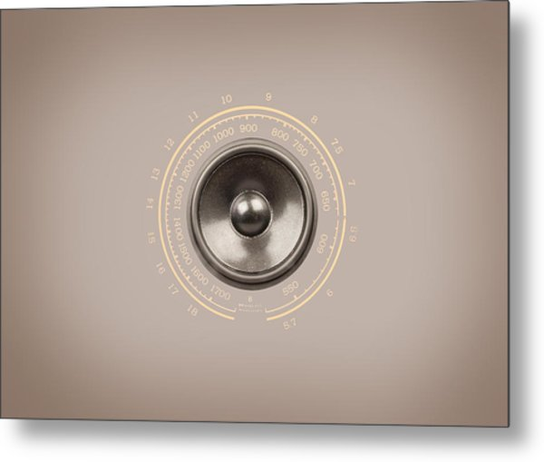 Audio Retro 6 Metal Print