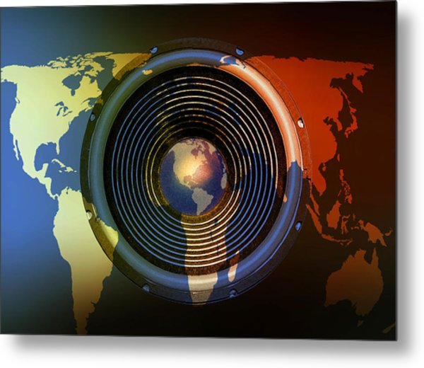 Audio World Metal Print