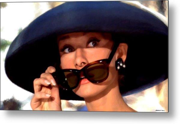 Audrey Hepburn @ Breakfast At Tiffany's Metal Print