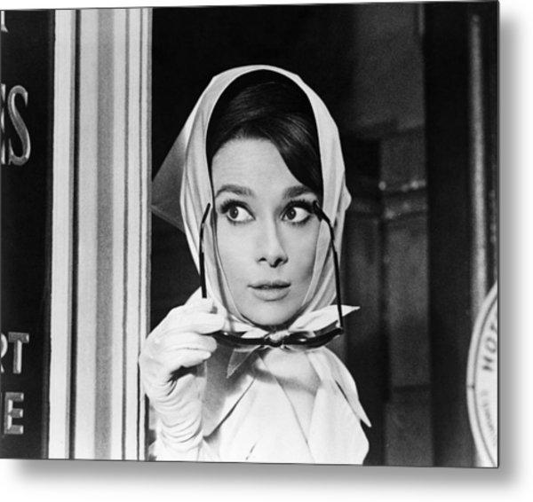 Audrey Hepburn In Charade  Metal Print