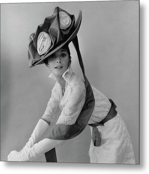 Audrey Hepburn In Costume For My Fair Lady Metal Print