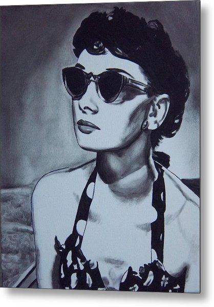 Audrey Hepburn Metal Print by Lori Keilwitz