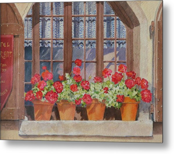 August At The Auberge  Metal Print