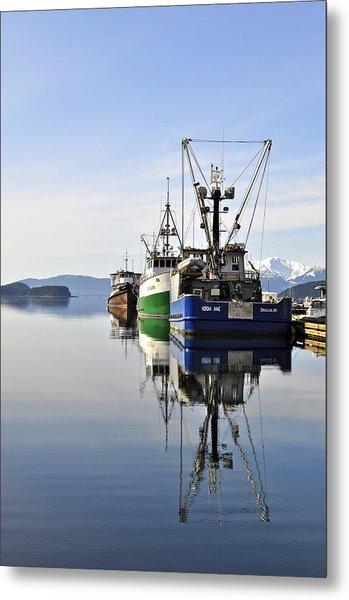Auke Bay Reflection Metal Print