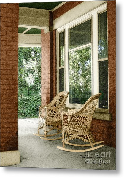 Aunt Jane's Porch Metal Print