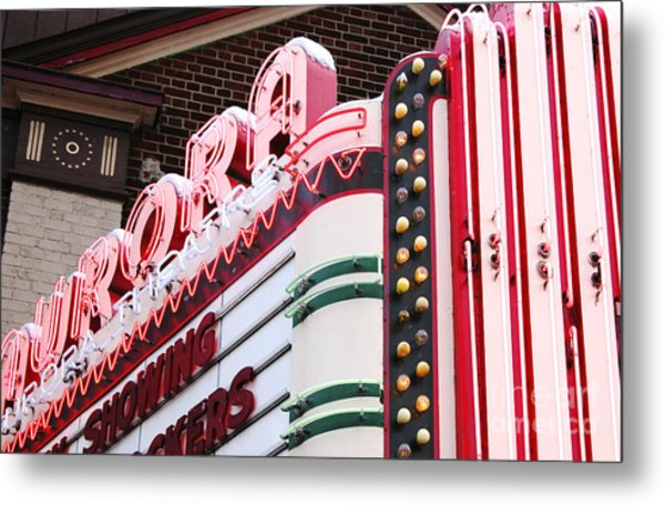 Aurora Theater Marquee Metal Print