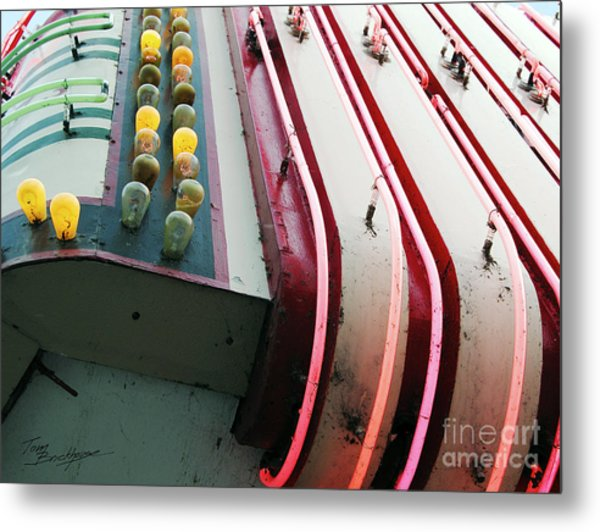 Aurora Theater Marquee - Detail Metal Print