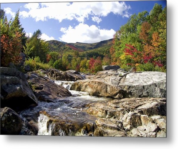 Ausable River Entering Flume Metal Print