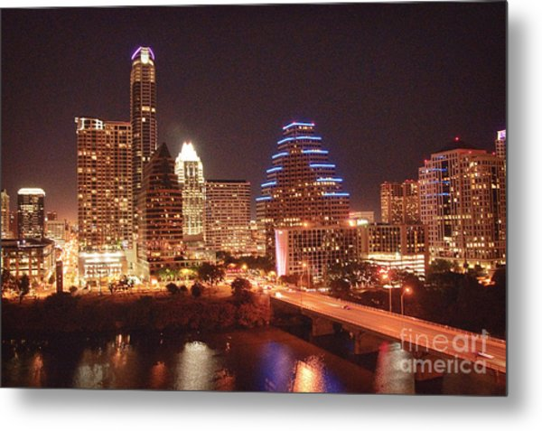 Austin Lights The Night Metal Print