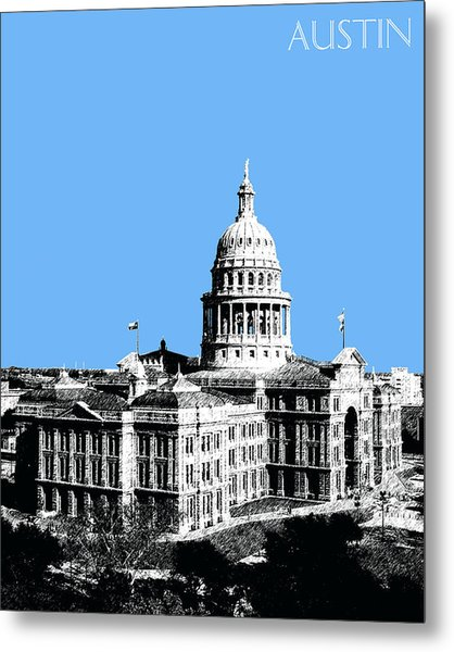 Austin Texas Capital - Sky Blue Metal Print