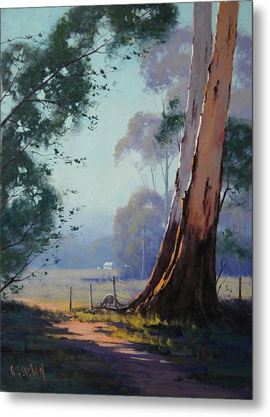 Australian Farm Painting Metal Print