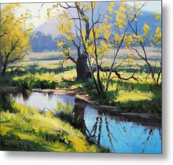 Australian River Painting Metal Print