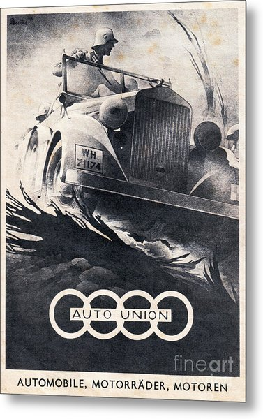 Auto Union Metal Print