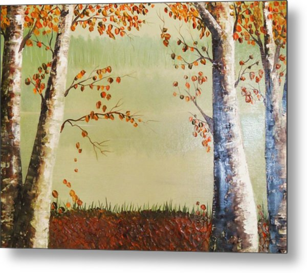 Autum On The Ema River  2 Metal Print
