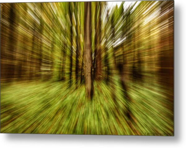 Autumn Abstract Metal Print by Kathi Isserman